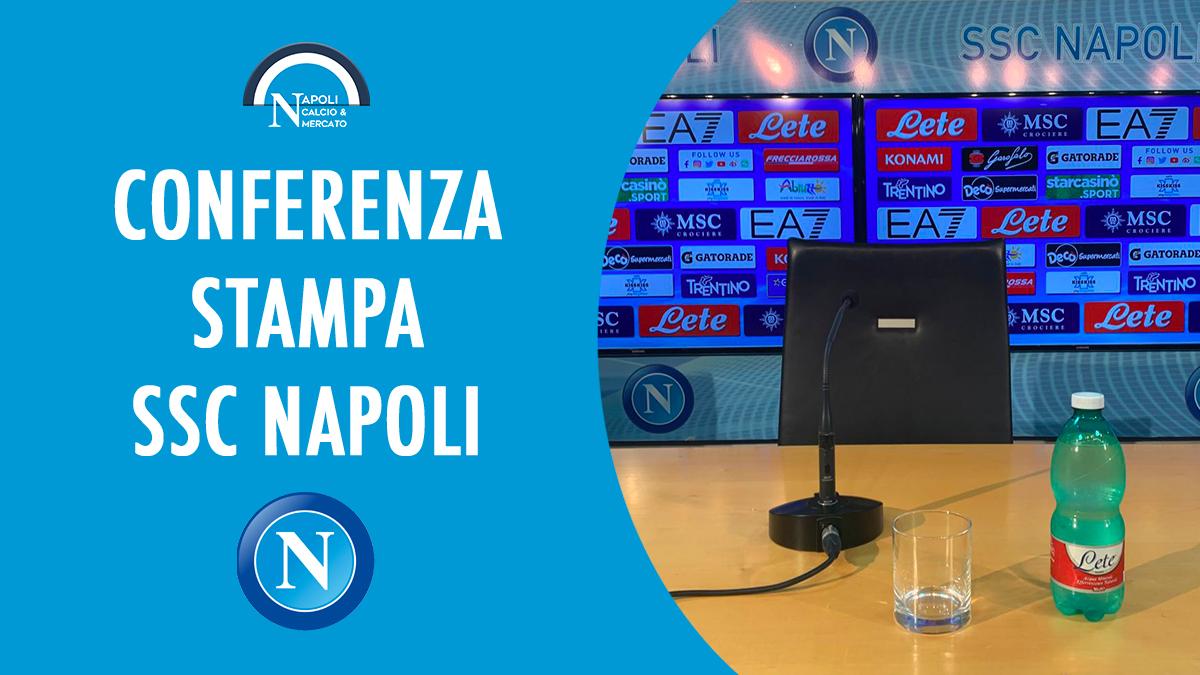 conferenza stampa ssc napoli calcio diretta video intervista dichiarazioni conferenze