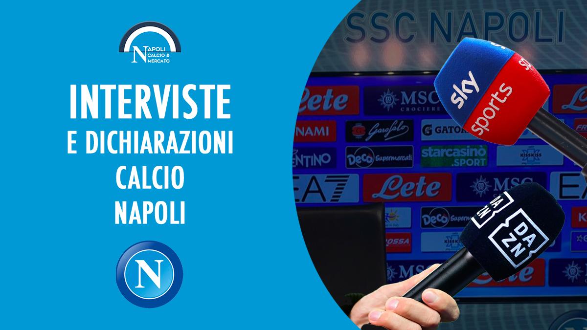 interviste napoli calcio intervista dichiarazioni conferenza calciatori sscnapoli calcionapoli24 calcionapoli1926