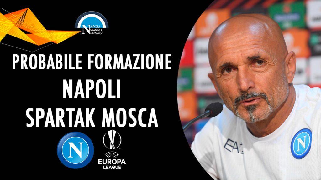Probabili formazioni Napoli-Spartak Mosca